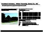 Grantham Cemetery, Wilson Twp., Gentry Co., Missouri