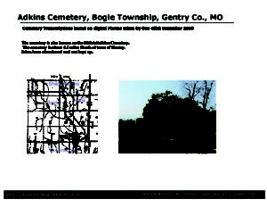 Adkins Cemetery, Bogle Twp., Gentry Co., Missouri