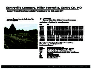Gentryville Cemetery, Miller Twp., Gentry Co., Missouri