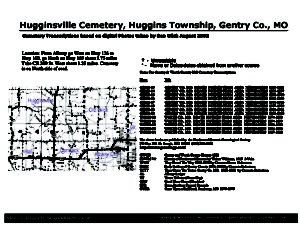 Hugginsville Cemetery, Huggins Twp., Gentry Co., Missouri
