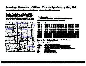 Jennings Cemetery, Wilson Twp., Gentry Co., Missouri