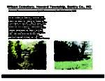 Wilson Cemetery, Howard Twp., Gentry Co., Missouri
