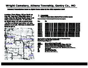 Wright Cemetery, Athens Twp., Gentry Co., Missouri