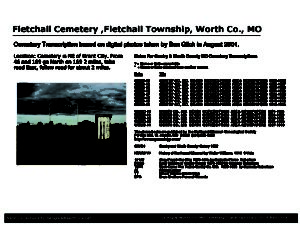 Fletchall Cemetery, Fletchall Twp., Worth Co., Missouri