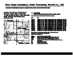 New Hope Cemetery, Allen Twp., Worth Co., Missouri