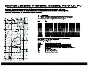 Smithton Cemetery, Middlefork Twp., Worth Co., Missouri