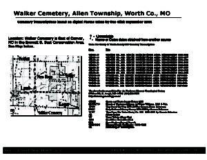 Walker Cemetery, Allen Twp., Worth Co., Missouri